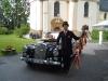 Hochzeitsauto auf Schloß Rechberg
