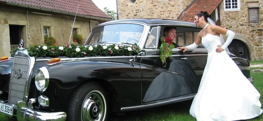 Fotos mit der Hochzeitslimousine