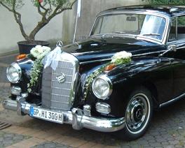 Hochzeitsauto Mercedes Adenauer